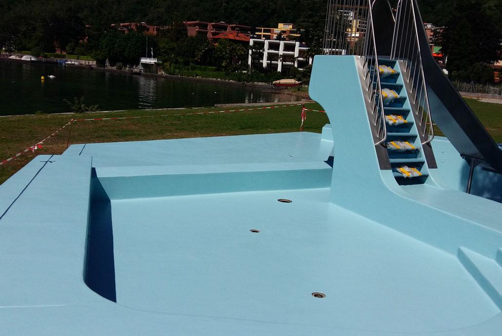 Rivestimento piscina dopo max schoch sa for Rivestimento piscina